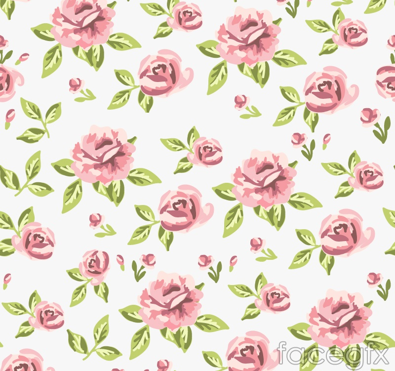 Beautiful roses seamless vector background illustration