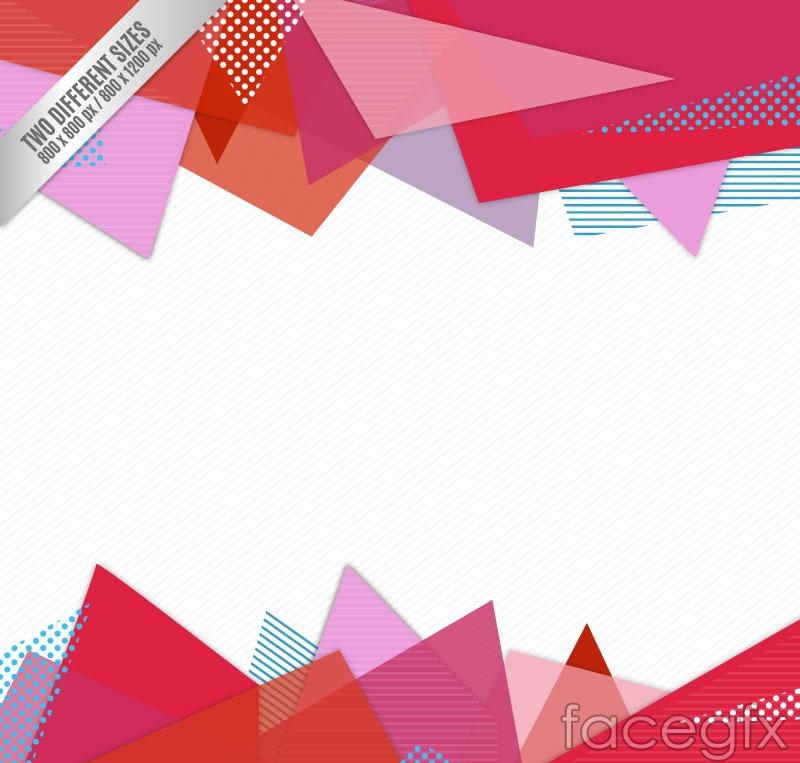 Creative triangle decorative background vector