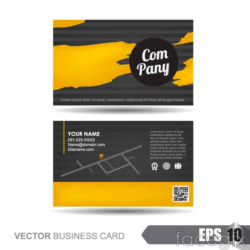 Stylish business cards designs vectors