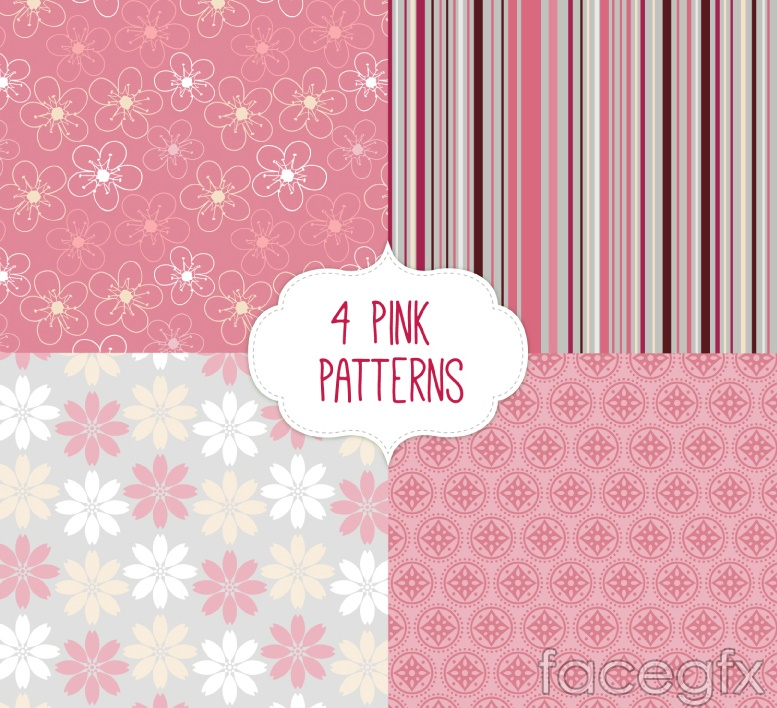 4 pink seamless background vector
