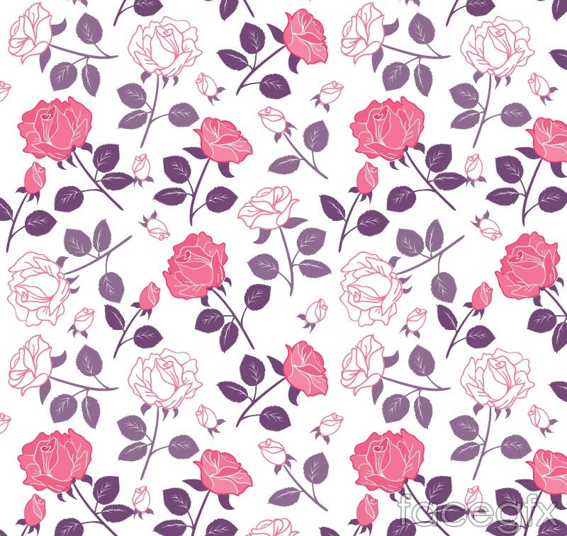 Elegant rose flower vector seamless background