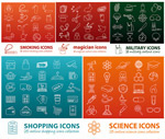 Linear creative icons vector