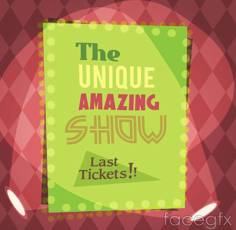 Vintage show posters, vector
