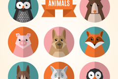 8 animal avatar design vector