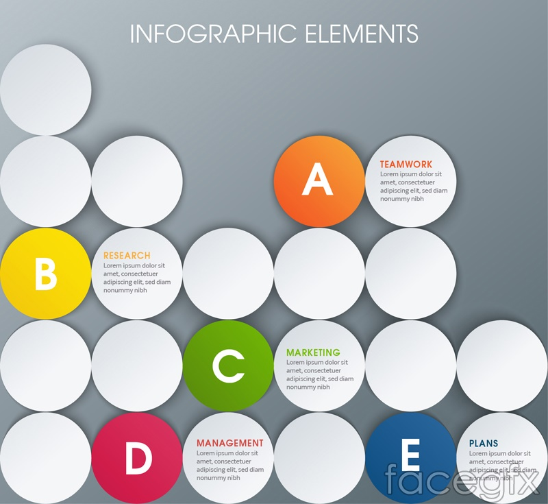 Creative Circle business information maps vector