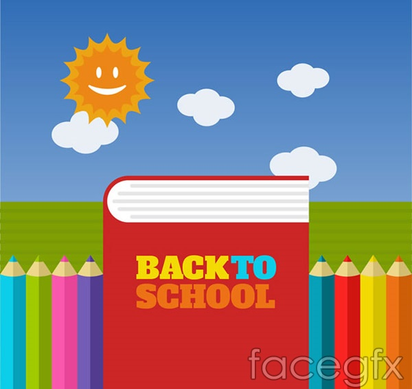 Poster books back to school vector