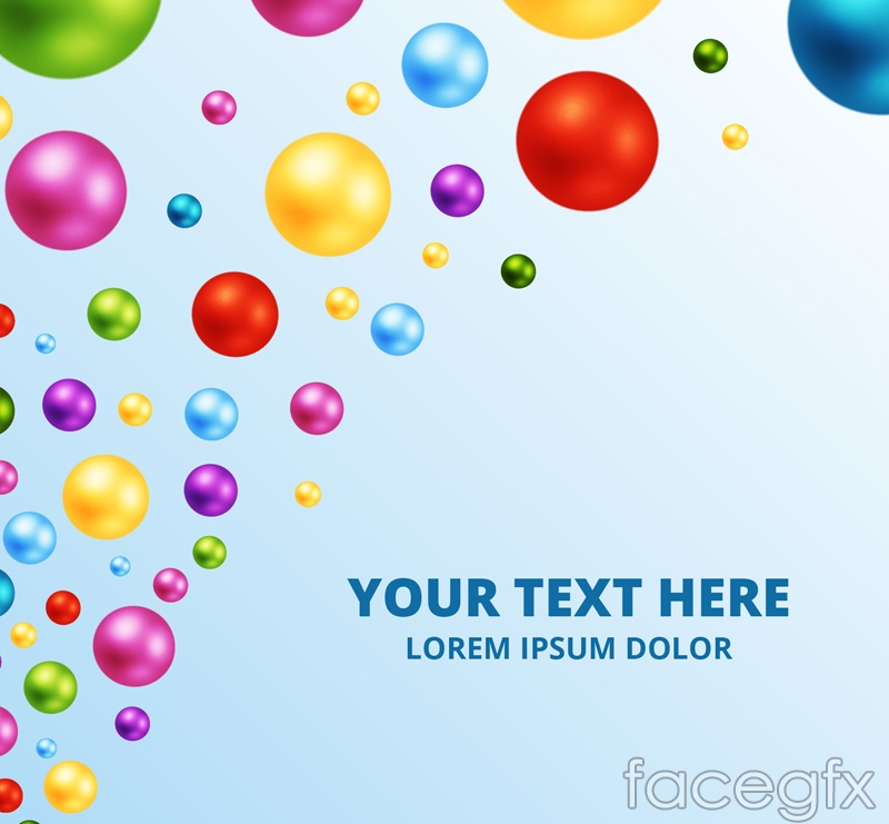 Colored beads background vector