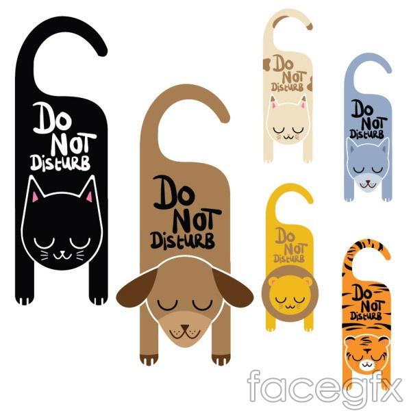 Do not disturb animals vector