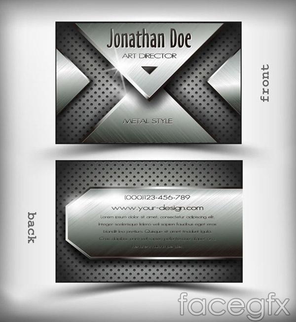 Metal business cards vector