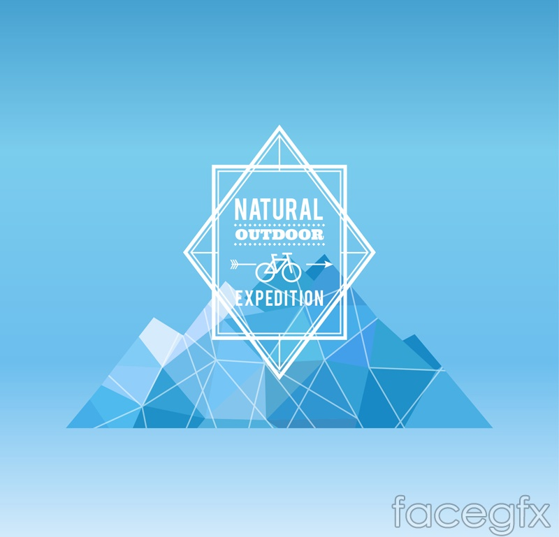 Outdoor adventure poster abstract vector