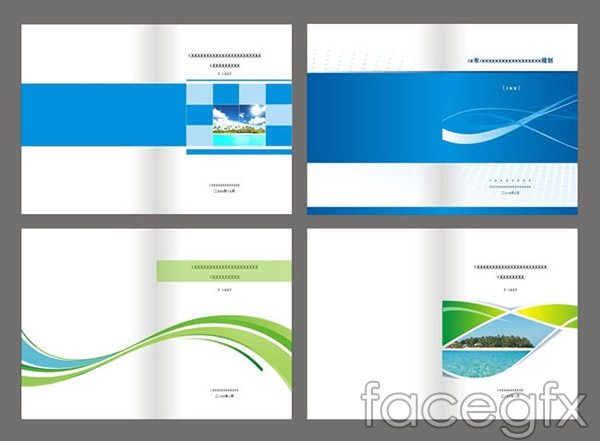 Simple business book cover vector