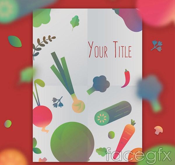 Vegetable shopping list vector