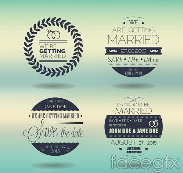 Wedding invitation art vector