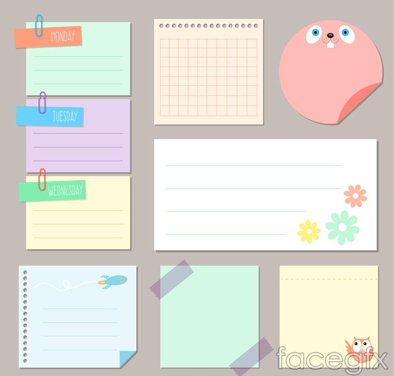9 blank note design vector