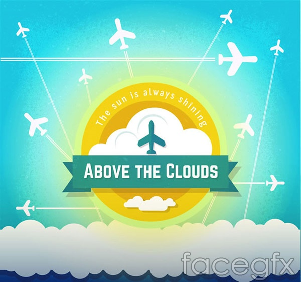 Airplanes tab background vector