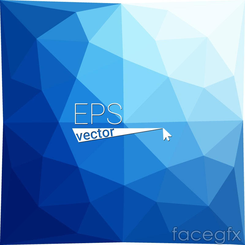 Blue low-facial modeling background vector