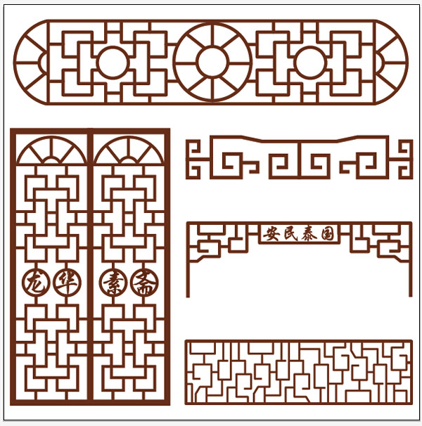Chinese-style panes vector