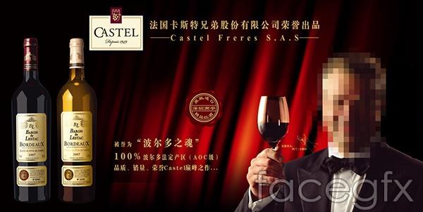 Custer wine poster vector