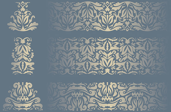 Gold pattern background shading vector