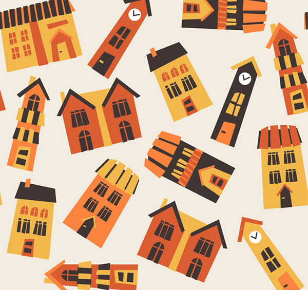 Housing seamless background vector