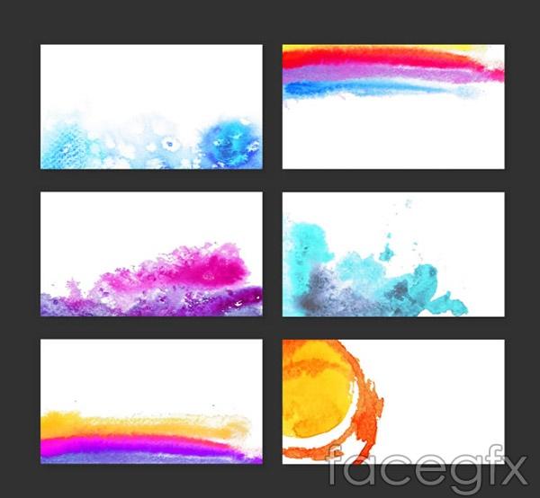 Ink watercolor card vector