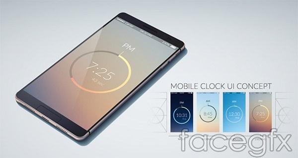 Mobile UI interface design vector