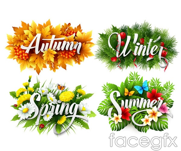 Season tag vector