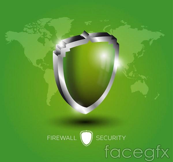 Shield Firewall illustration vector