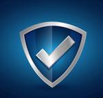 Check mark shields vector