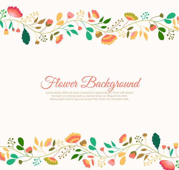 Creative flower border background vector