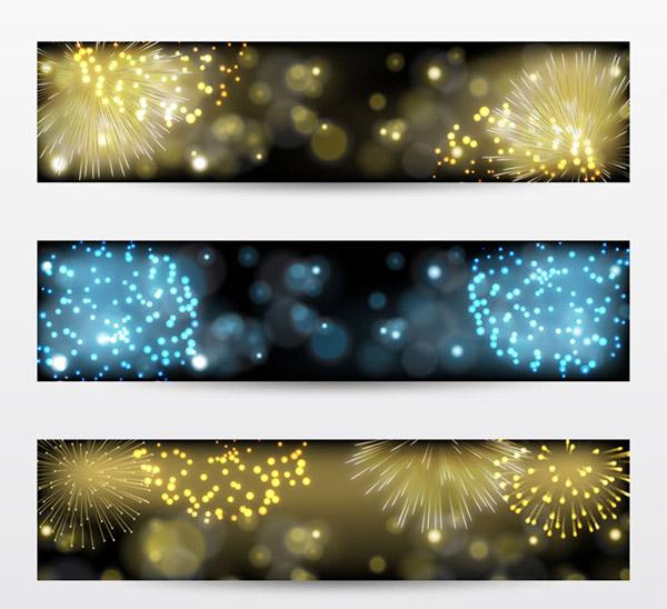 Fireworks banner vector