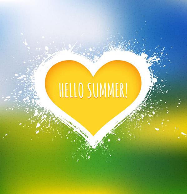 Hello Yellow summer love vector