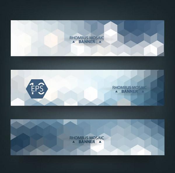 Mosaic banner vector
