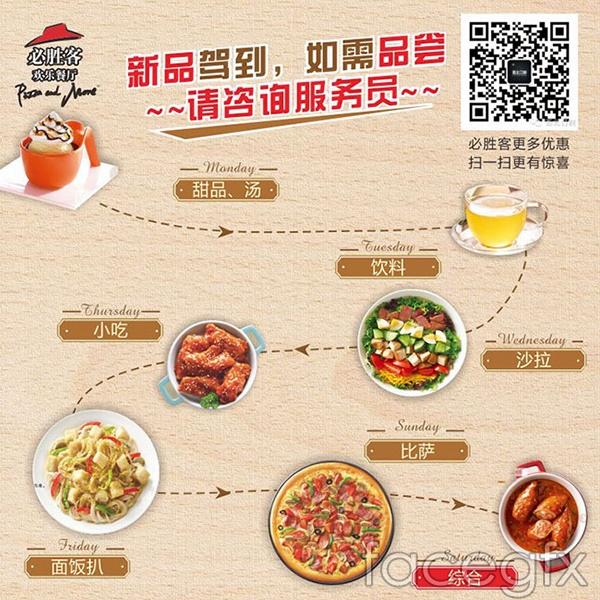 Pizza Hut's new menu vector