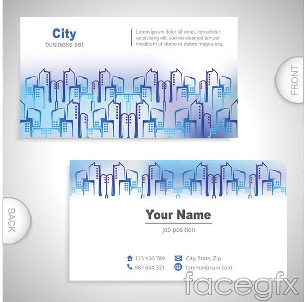 Simple city card vector