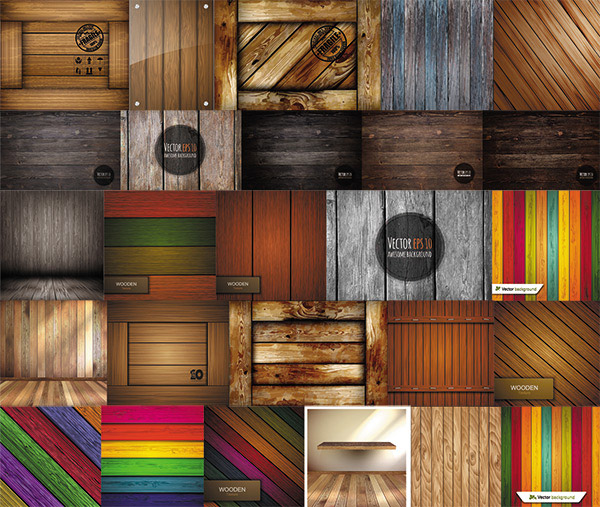 Stylish wooden background vector