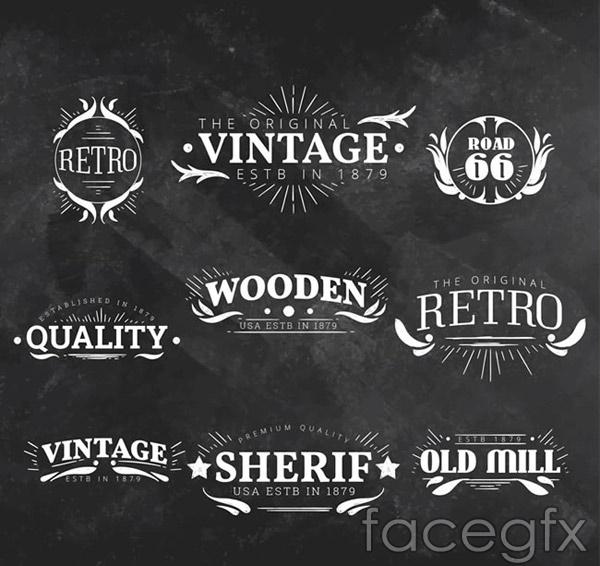 Vintage quality label vector