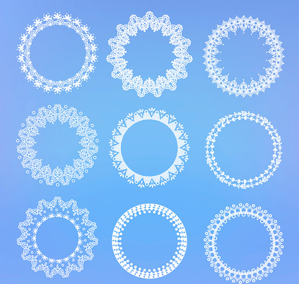 White lace ring vector