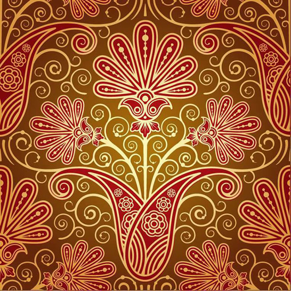 Gorgeous red patterned background vector