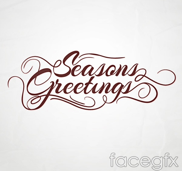 Season's greetings the WordArt vector