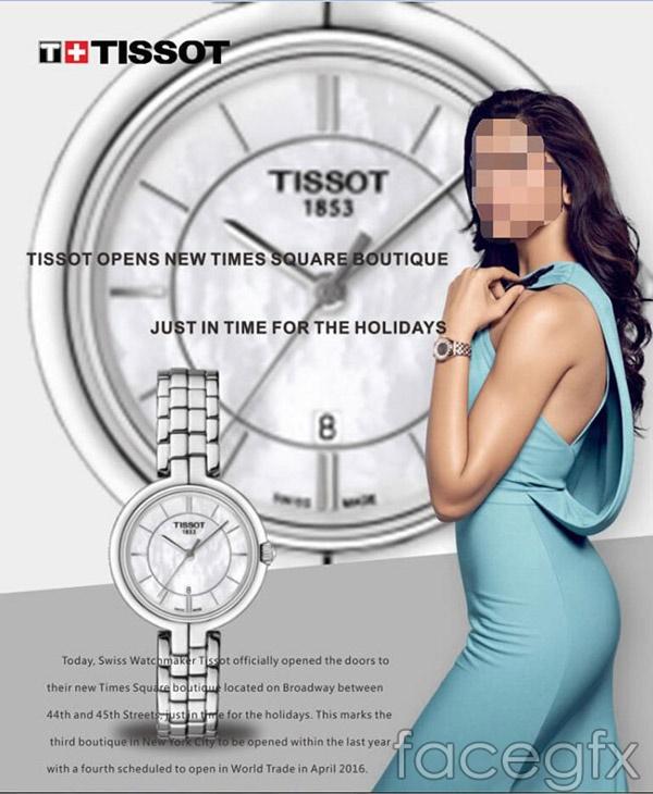 Tissot watch ad vector