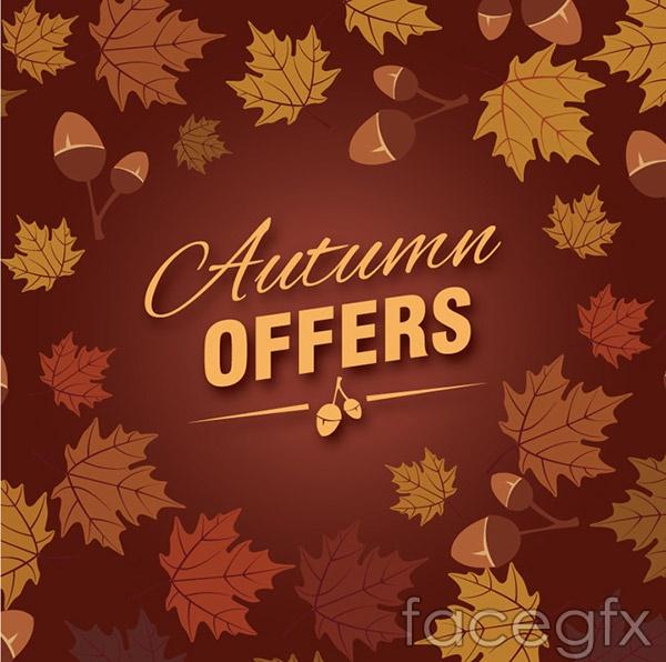 Autumn Acorn promotional poster vector