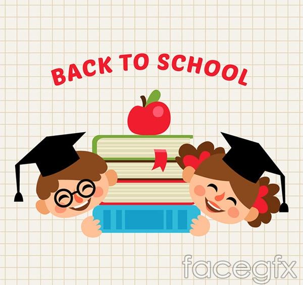 Children back to school flyer vector