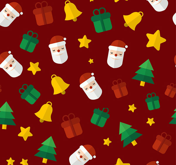 Christmas elements of seamless background vector