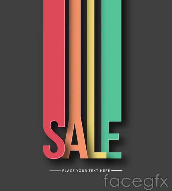 Color promotional art vector