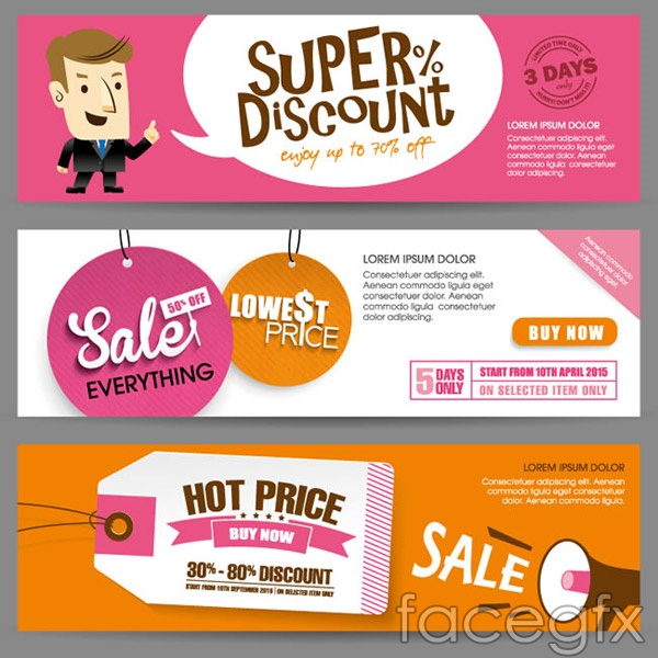 Flat sale banne vector