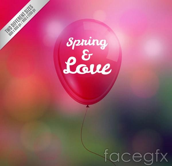 Spring balloons vector