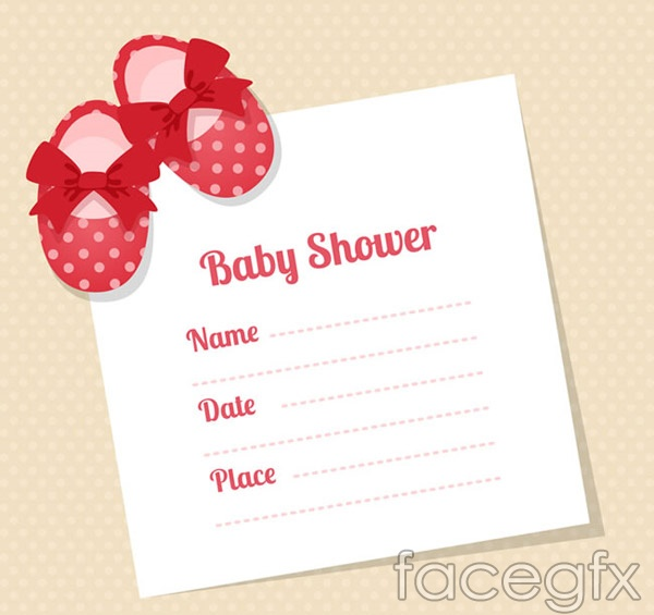 welcome baby party invitation card vector for free