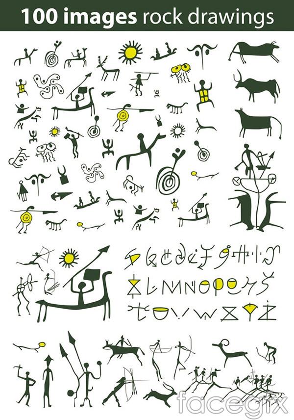 Ancient Egypt symbols vector