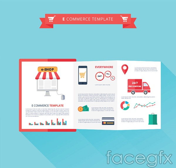 E-commerce fold vector